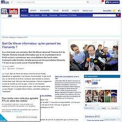 Bart De Wever informateur: qu'en pensent les Flamands ? -- RTL i