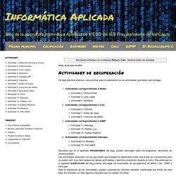Informática Aplicada: Tema 4. Calc