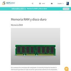 Informática Básica: Memoria RAM y disco duro
