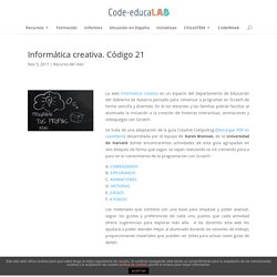 Informática creativa. Código 21