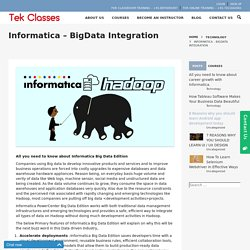 Informatica big data integration