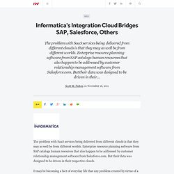 Informatica's Integration Cloud Bridges SAP, Salesforce, Others - ReadWriteCloud