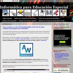 Nueva versión 1.0.3 de AraWord disponible con la base de datos completa de pictogramas de ARASAAC.