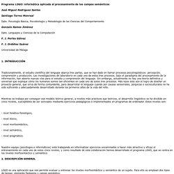 Programa LOGO: informática aplicada al procesamiento de los campos semánticos