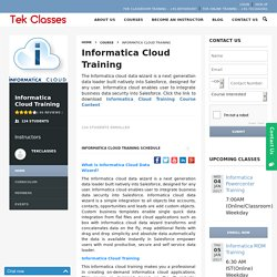 Informatica Cloud Online Training