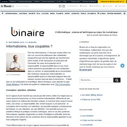 Informaticiens, tous coupables ? – binaire
