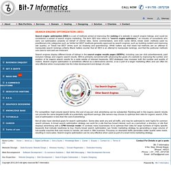 Improve your ranking with our SEO services offered by Bit-7 Informatics