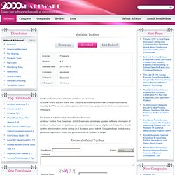 abufaisal Toolbar. Information and Download of abufaisal abufaisal Toolbar at 2000Shareware.