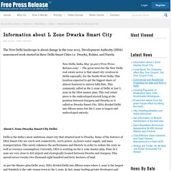Information about L Zone Dwarka Smart City