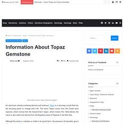 Information About Topaz Gemstone