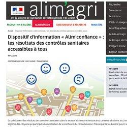 MAAF 19/12/16 Dispositif d'information « Alim'confiance » : les résultats des contrôles sanitaires accessibles à tous