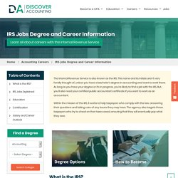 IRS Jobs Degree and Career Information - Discover Accounting