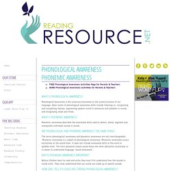 Phonemic Awareness Information and Activities
