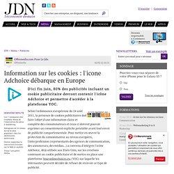 Information sur les cookies : l'icone Adchoice débarque en Europe