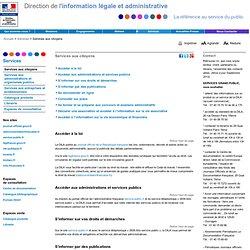 Services aux citoyens - Dila - Direction de l'information légale et administrative