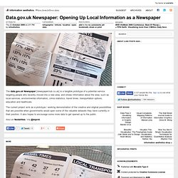 Data.gov.uk Newspaper: Opening Up Local Information as a Newspap