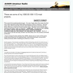 Mast Information - AI4WM Amateur Radio