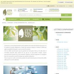 Synphonat - Lettre d'Information n°64 - Janvier 2018 - Synphonat - Valeurs Nature - Création et Diffusion de Compléments Alimentaires