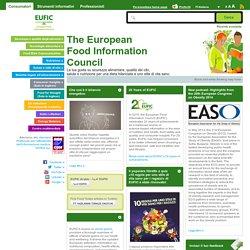 The European Food Information Council (EUFIC) : La tua guida su sicurezza alimentare, qualità dei cibi, salute e nutrizione per una dieta bilanciata e uno stile di vita sano.
