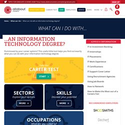 What can I do with an information technology degree?