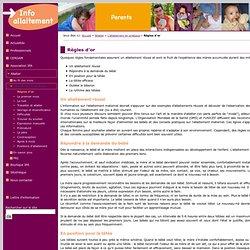 IPA Information pour l'Allaitement - Règles d'or
