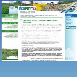 PESTICIDES POITOU CHARENTES 27/05/11 Certiphyto en 2010 - données-clés en Poitou-Charentes