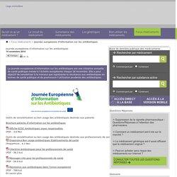 SANTE_GOUV_FR 14/11/14 Journée européenne d'information sur les antibiotiques