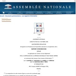 N°1388 - Rapport d'information de MM. François André et Philippe Vitel déposé en application de l'article 145 du règlement, par la commission de la défense nationale et des forces armées, en conclusion des travaux d'une mission d'information sur le contr