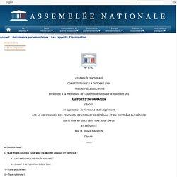 N°3782 - Rapport d'information de M. Hervé Mariton déposé en application de l'article 146 du règlement, par la commission des finances, de l'économie générale et du contrôle budgétaire sur la mise en place de la taxe poids lourds