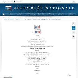 ASSEMBLEE NATIONALE 12/06/19 Rapport sur l'évaluation de la loi n° 2016-138 du 11 février 2016 relative à la lutte contre le gaspillage alimentaire