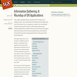 Information Gathering: A Roundup of UX Applications