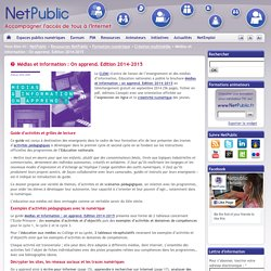 Médias et information : On apprend. Edition 2014-2015