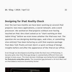 iA » Designing for iPad: Reality Check