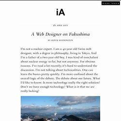 A Web Designer on Fukushima