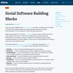Social Software Building Blocks / nForm / Customer Insight, Stra