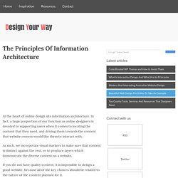 The Principles Of Information Architecture