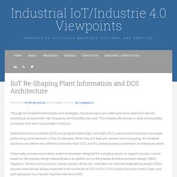 IIoT Re-Shaping Plant Information and DCS Architecture - Industrial IoT/Industrie 4.0 Viewpoints