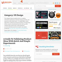 Smashing UX Design - Usability, UX design and Information Architecture Articles
