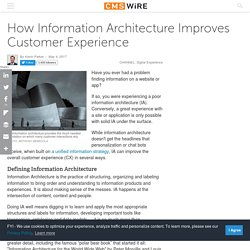 How Information Architecture Improves Customer Experience