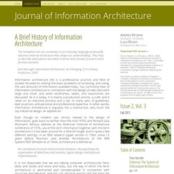 A Brief History of Information Architecture