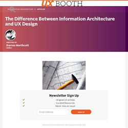 The Difference Between Information Architecture and UX Design