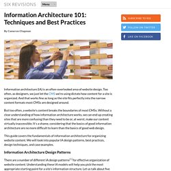 Information Architecture 101: Techniques and Best Practices