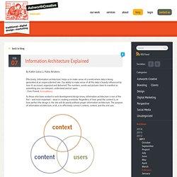 Information Architecture Explained - Ashworth Creative