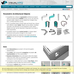 Parametric Objects - Features - Information - VisualARQ - 3D Architecture for Rhino - Software Architecture