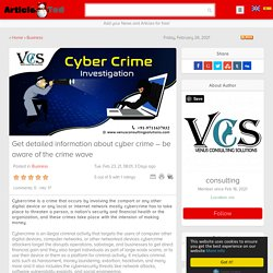 Get detailed information about cybercrime – be aware of the crime wave