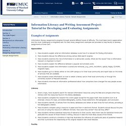 Information Literacy Tutorial: Sample Assignments - UMUC Library