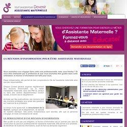 La réunion d'information pour être assistante maternelle