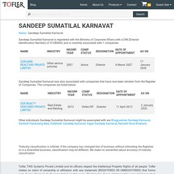SANDEEP SUMATILAL KARNAVAT - Director information and associated companies