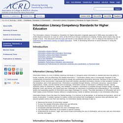 ACRL | Information Literacy Competency Standards for Higher Education