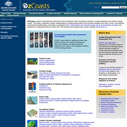 Information about Australia's coast, including its estuaries and coastal waterways and climate change impact
